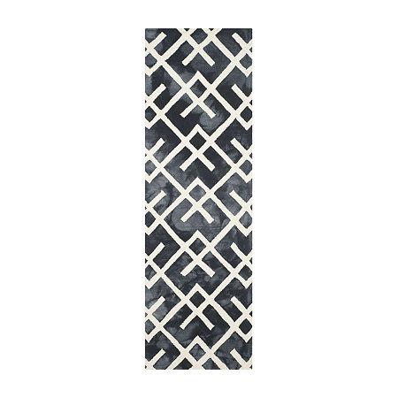 Safavieh Dip Dye Collection Earleen Geometric Runner Rug, One Size , Multiple Colors