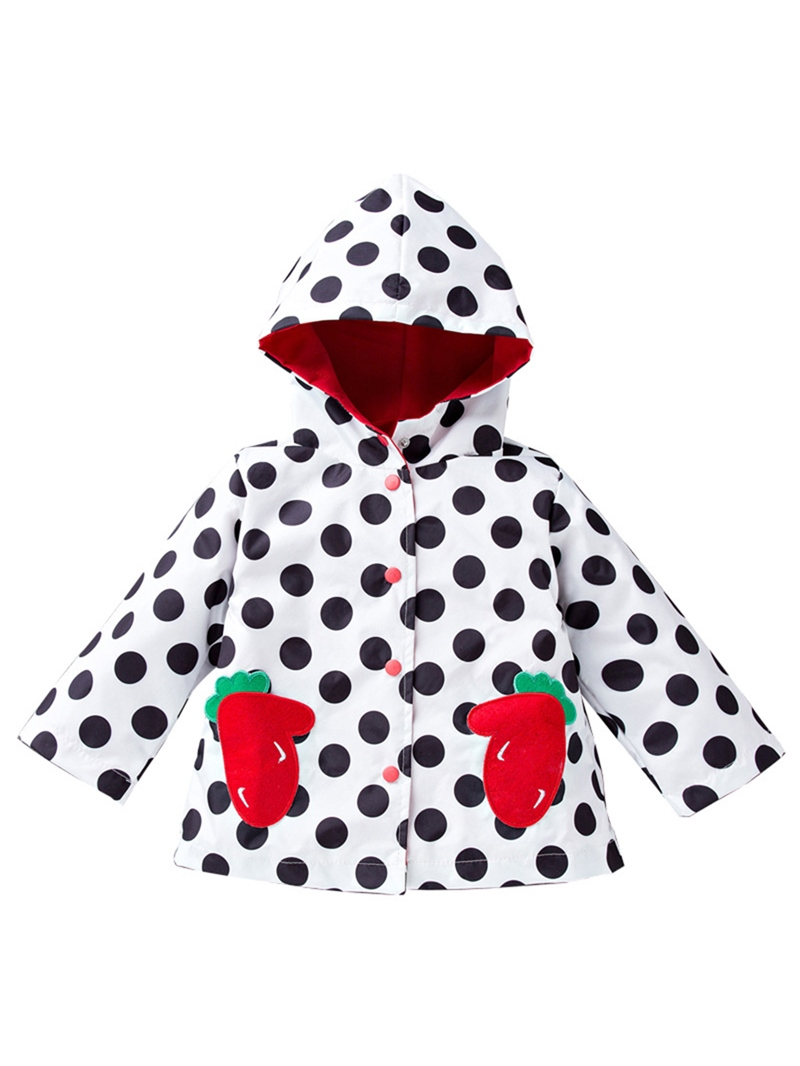 Ericdress Polka Dots Mid-Length Lovely Girl's Outwears