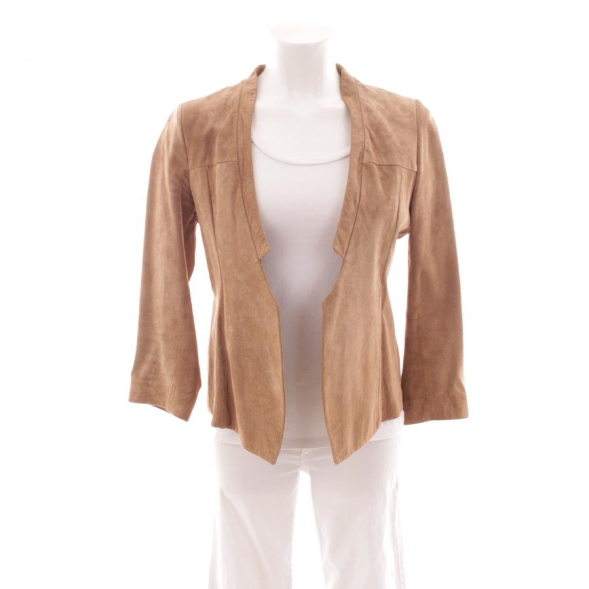 Drykorn \N Beige Leather jacket for Women 42 FR
