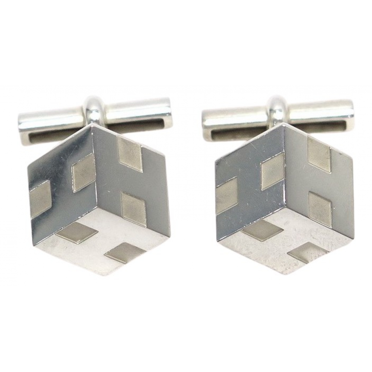 Hermès N Silver Silver Cufflinks for Men N