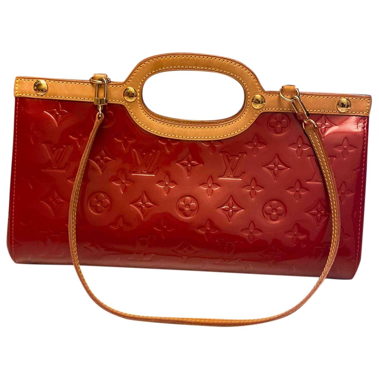 Louis Vuitton - Sac a main Roxbury pour femme en cuir verni - rouge