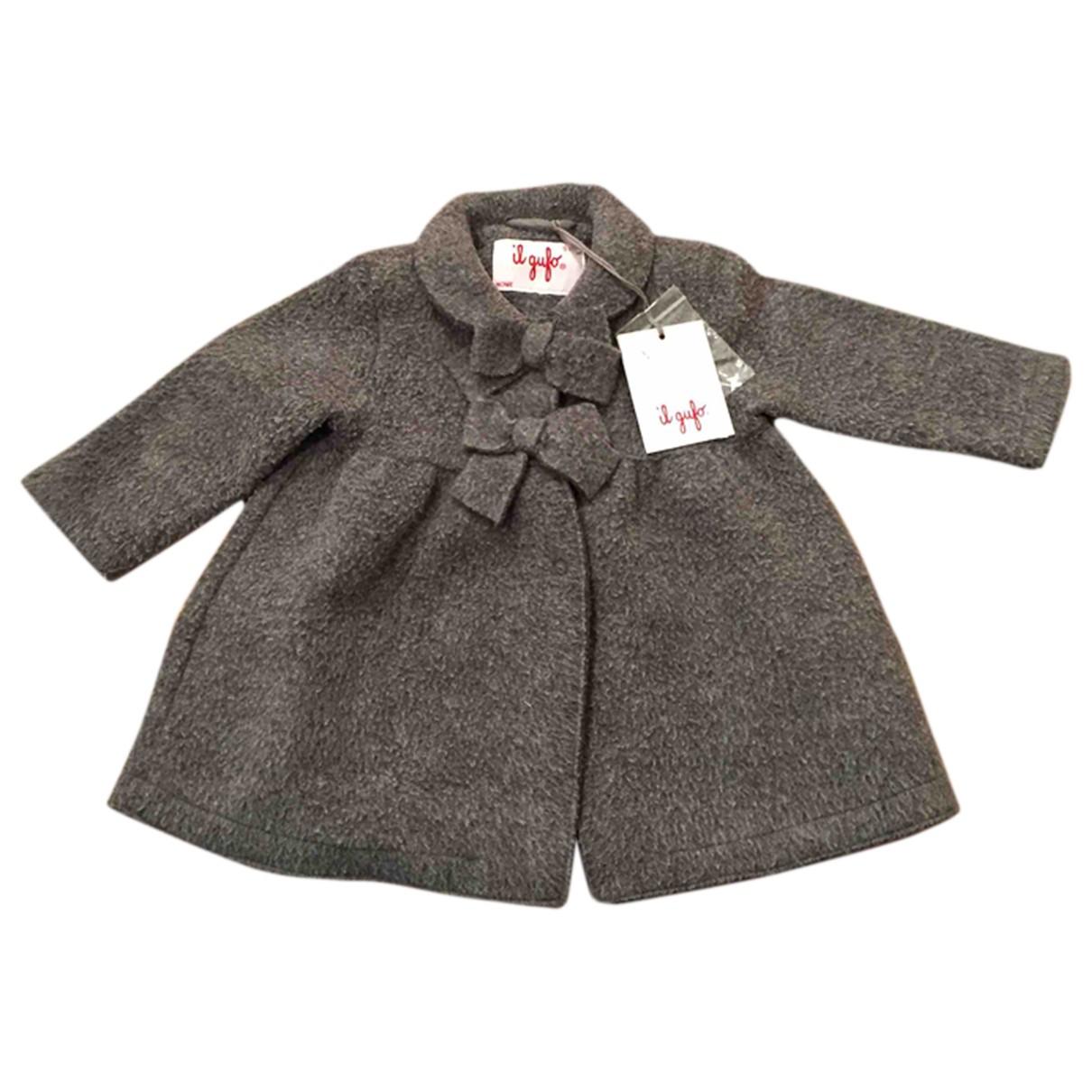 Il Gufo \N Jacke, Maentel in  Grau Wolle