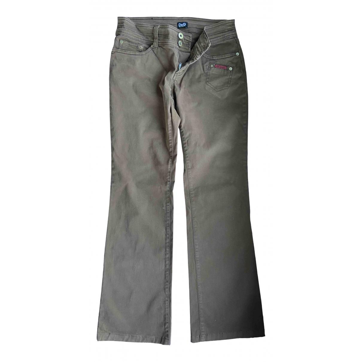 D&g - Pantalon   pour femme en denim - marron