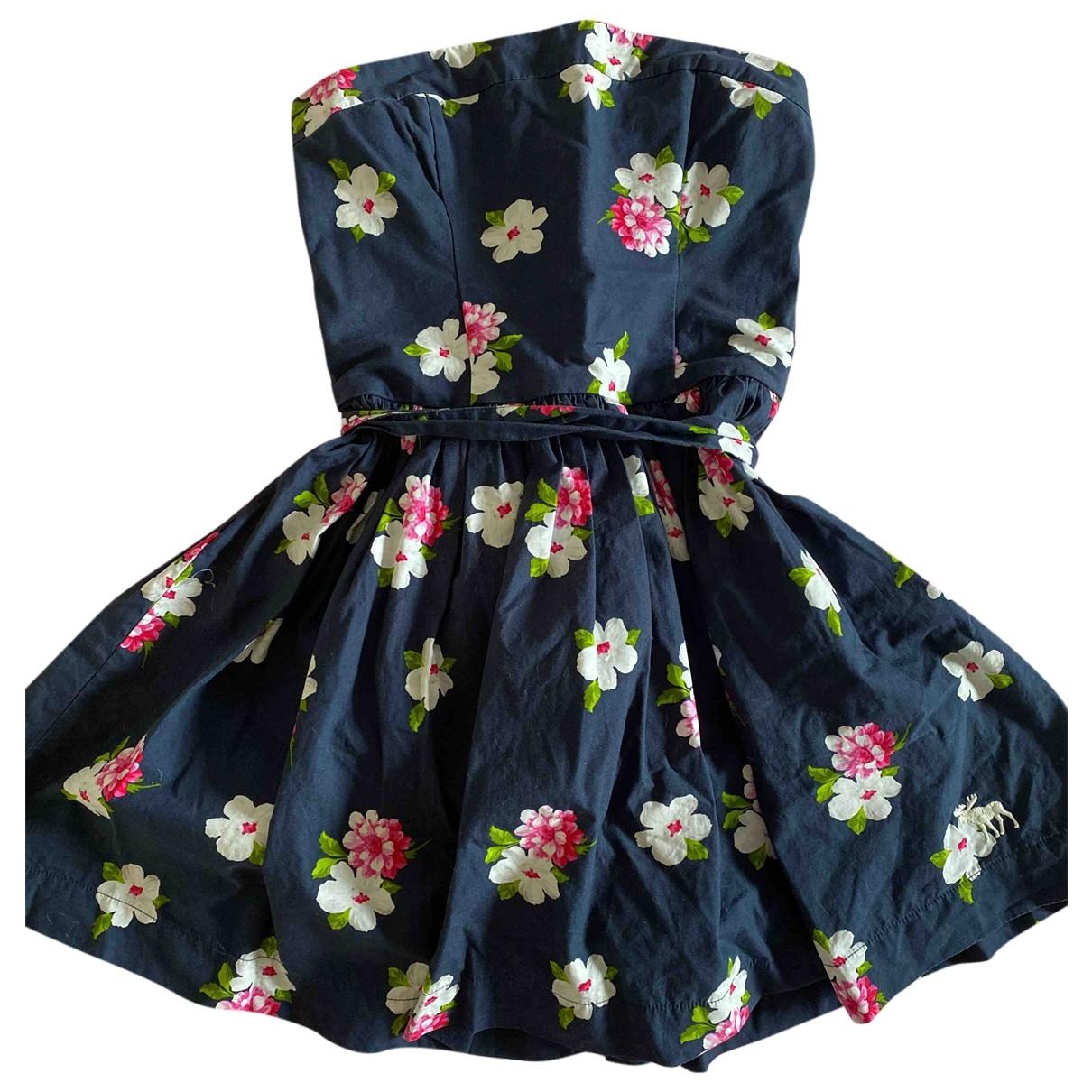 Abercrombie & Fitch - Robe   pour femme en coton - bleu