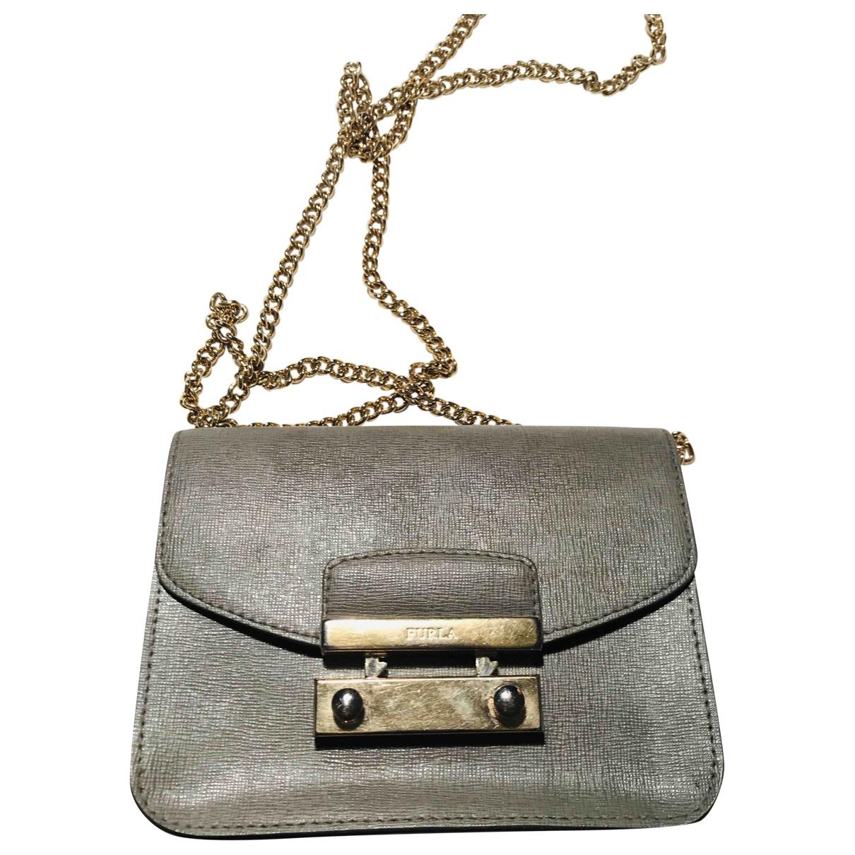 Furla Metropolis Khaki Leather handbag for Women \N