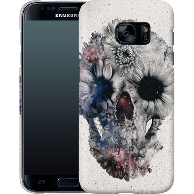 Samsung Galaxy S7 Smartphone Huelle - Floral Skull 2 von Ali Gulec