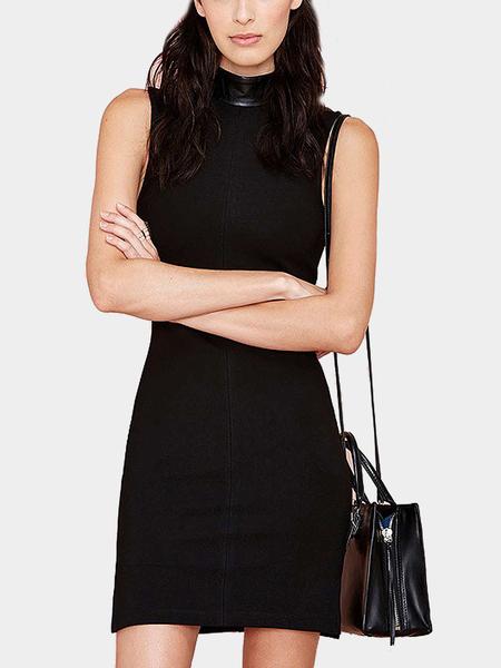 Yoins High Neck Sleeveless Mini Dress with Side Split