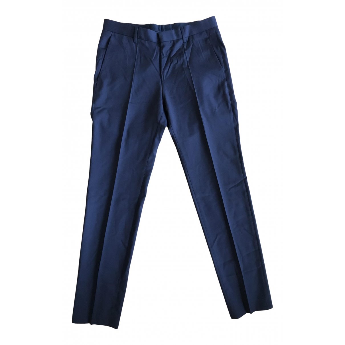 Boss N Blue Wool Trousers for Men XS International