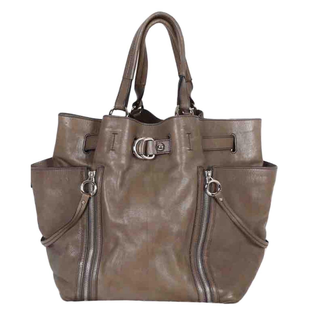 Dolce & Gabbana \N Handtasche in  Grau Leder