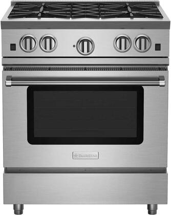 RNB304BV2LC 30 RNB Series Freestanding Gas Range with 4 Open Burners  Convection Oven  Infrared Broiler and Manual Cleanm in Standard RAL