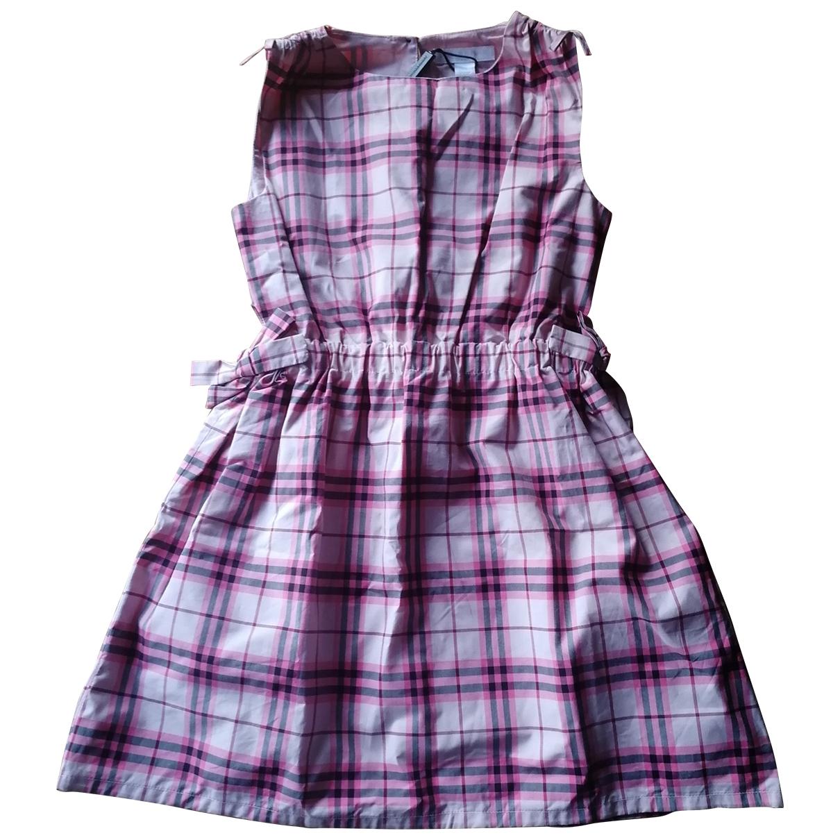 Burberry \N Kleid in  Rosa Baumwolle