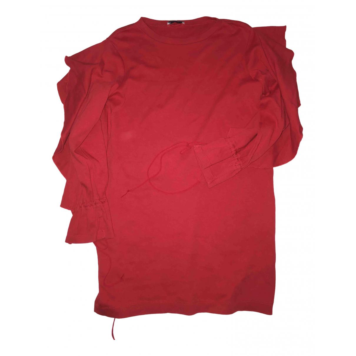 Zara \N Kleid in  Rot Baumwolle