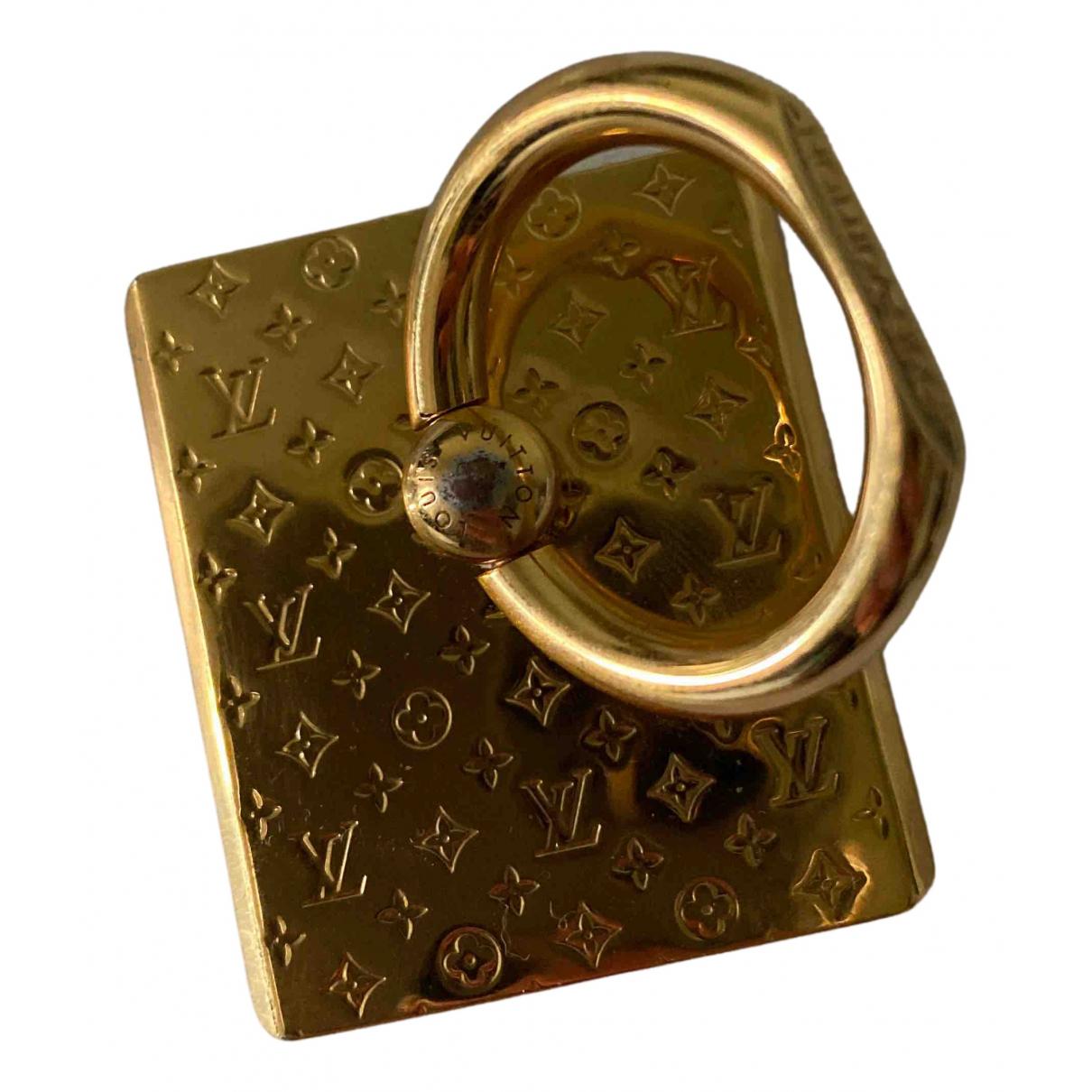 Louis Vuitton - Bijoux de portable   pour femme en cuir - dore