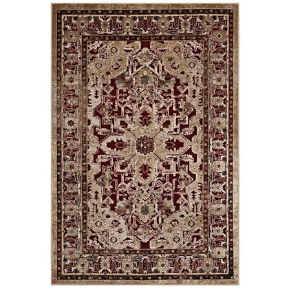 Grania Collection R-1096A-58 Ornate Vintage Floral Turkish 5x8 Area Rug in Burgundy and Tan