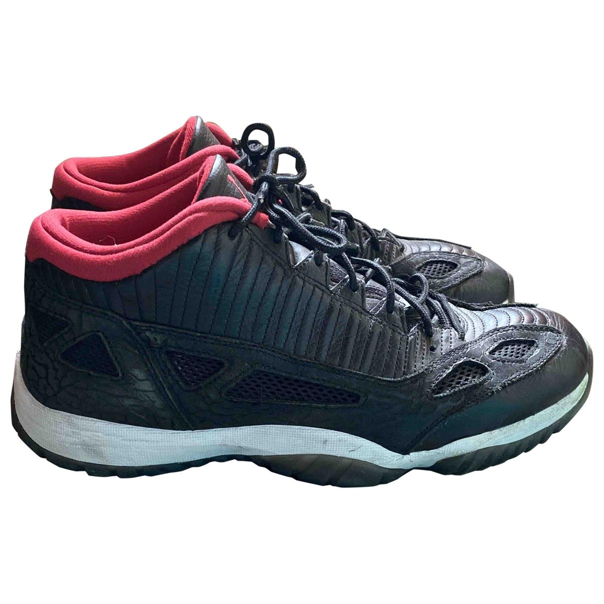 Jordan - Baskets Air Jordan 11 pour homme en cuir - noir