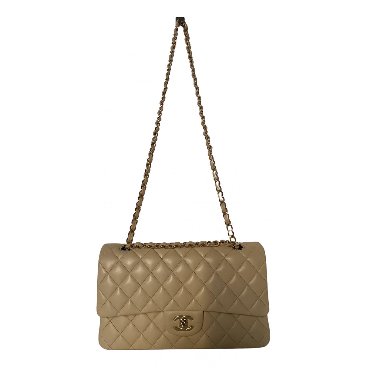 Chanel Timeless/Classique Beige Leather handbag for Women N