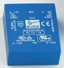Block 15V ac 2 Output Through Hole PCB Transformer, 24VA