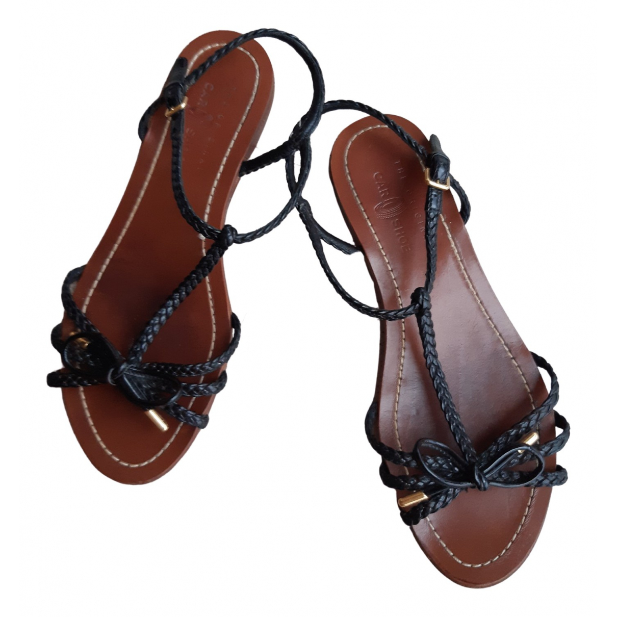 Carshoe \N Sandalen in  Schwarz Leder