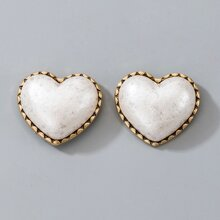Heart Design Stud Earrings