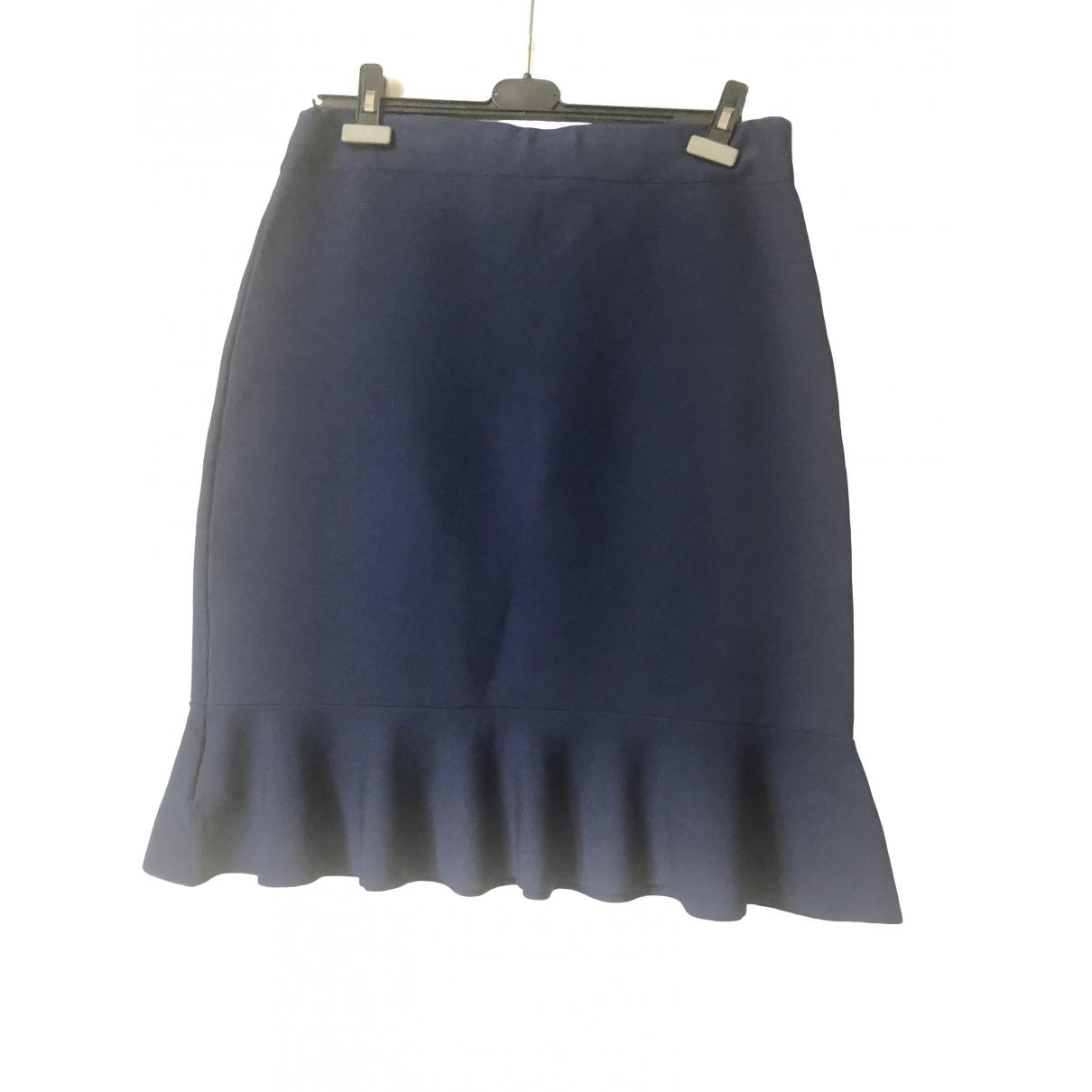 Lauren Ralph Lauren - Jupe   pour femme en coton - elasthane - marine