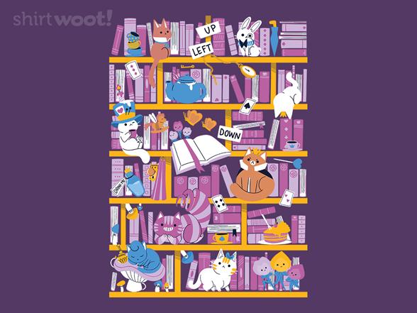 Library In Wonderland T Shirt