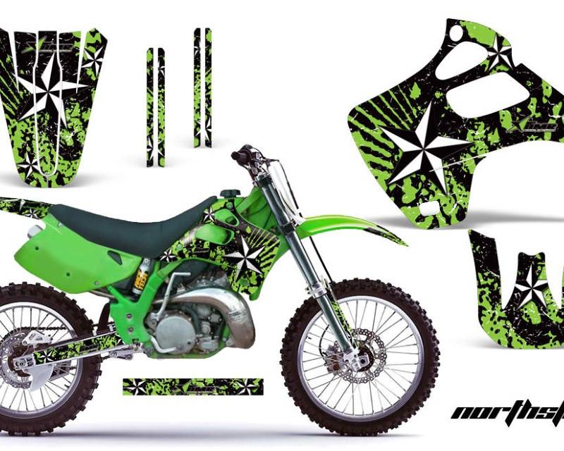 AMR Racing Dirt Bike Graphics Kit Decal Wrap For Kawasaki KX125 | KX250 1992-1993áNORTHSTAR GREEN