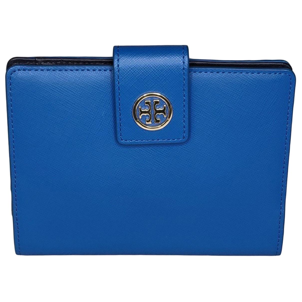 Tory Burch - Portefeuille   pour femme en cuir - bleu