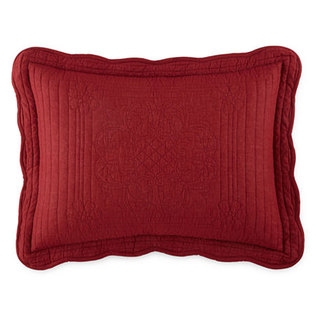 Home Expressions Everly Pillow Sham, One Size , Red