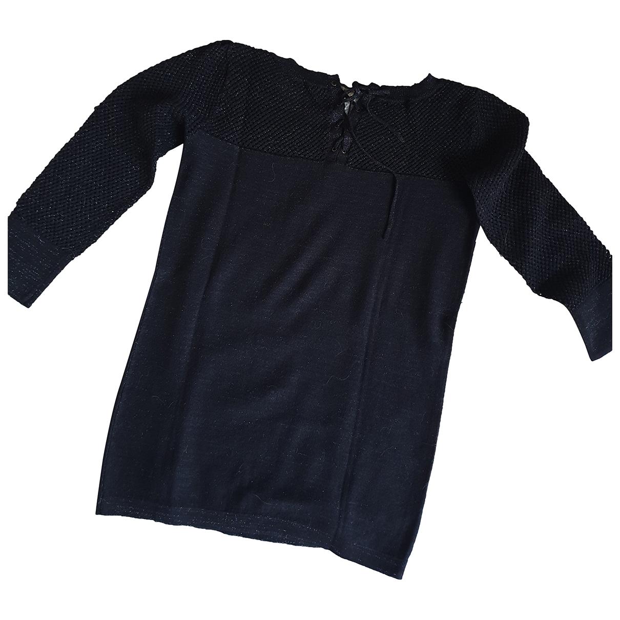 Ikks - Pull   pour femme en coton - noir