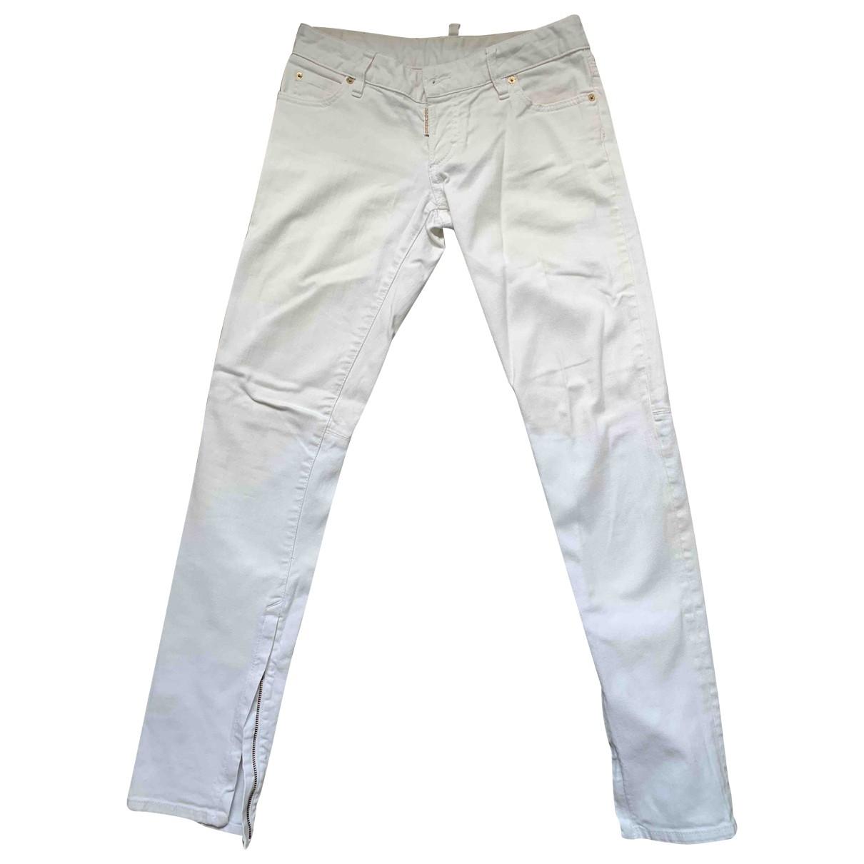 Dsquared2 \N White Denim - Jeans Jeans for Women 40 FR