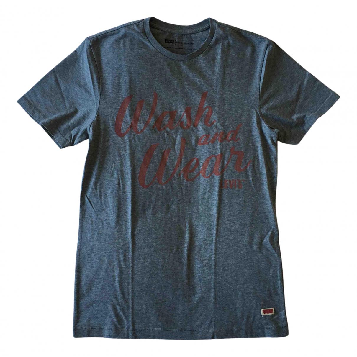 Levis - Tee shirts   pour homme en coton - gris