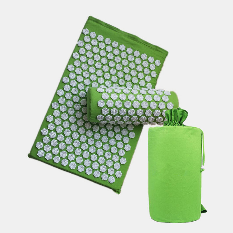 3Pcs/Set Flower Massage Pad Pillow Acupressure Relieve Stress Back Body Acupuncture Yoga Mat