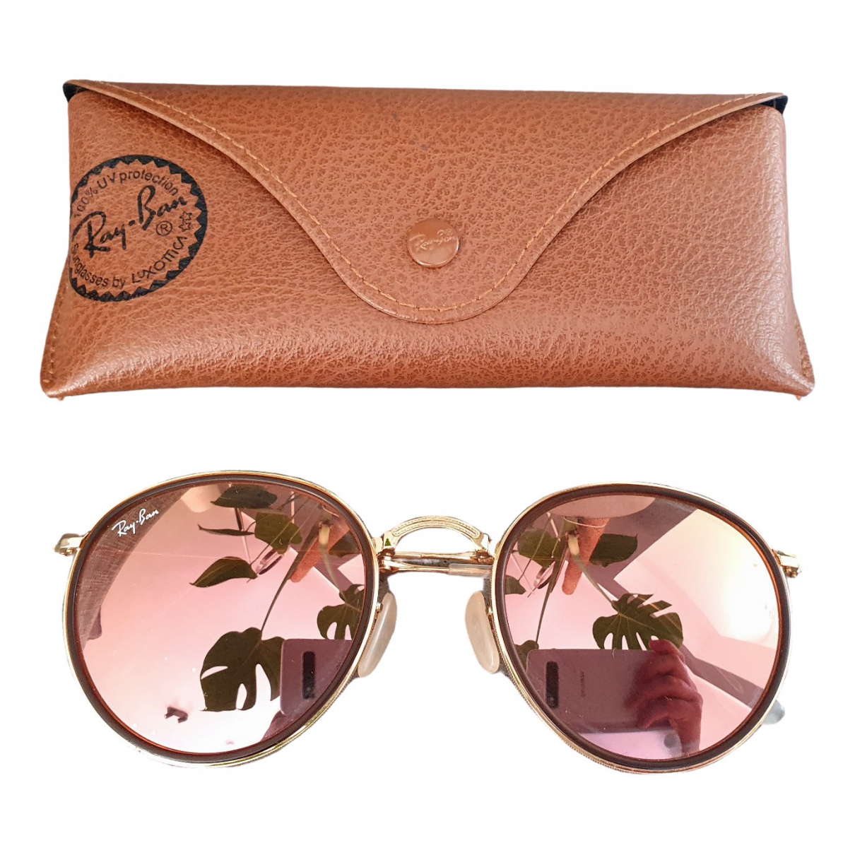 Ray-ban Round Gold Metal Sunglasses for Women \N