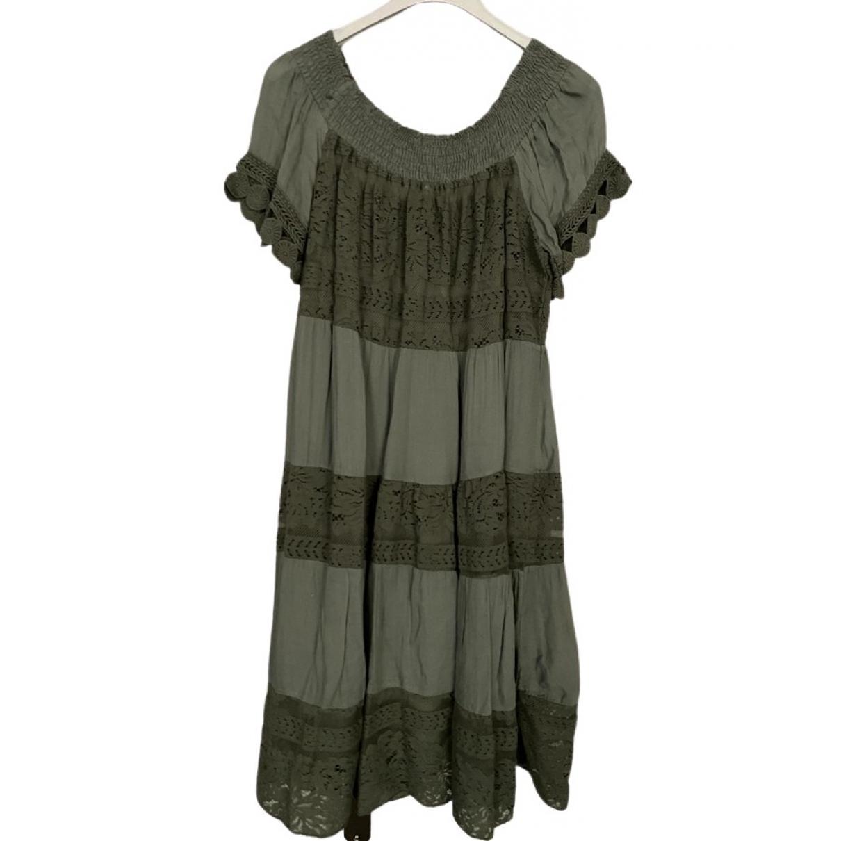 Non Signe / Unsigned \N Kleid in  Khaki Viskose