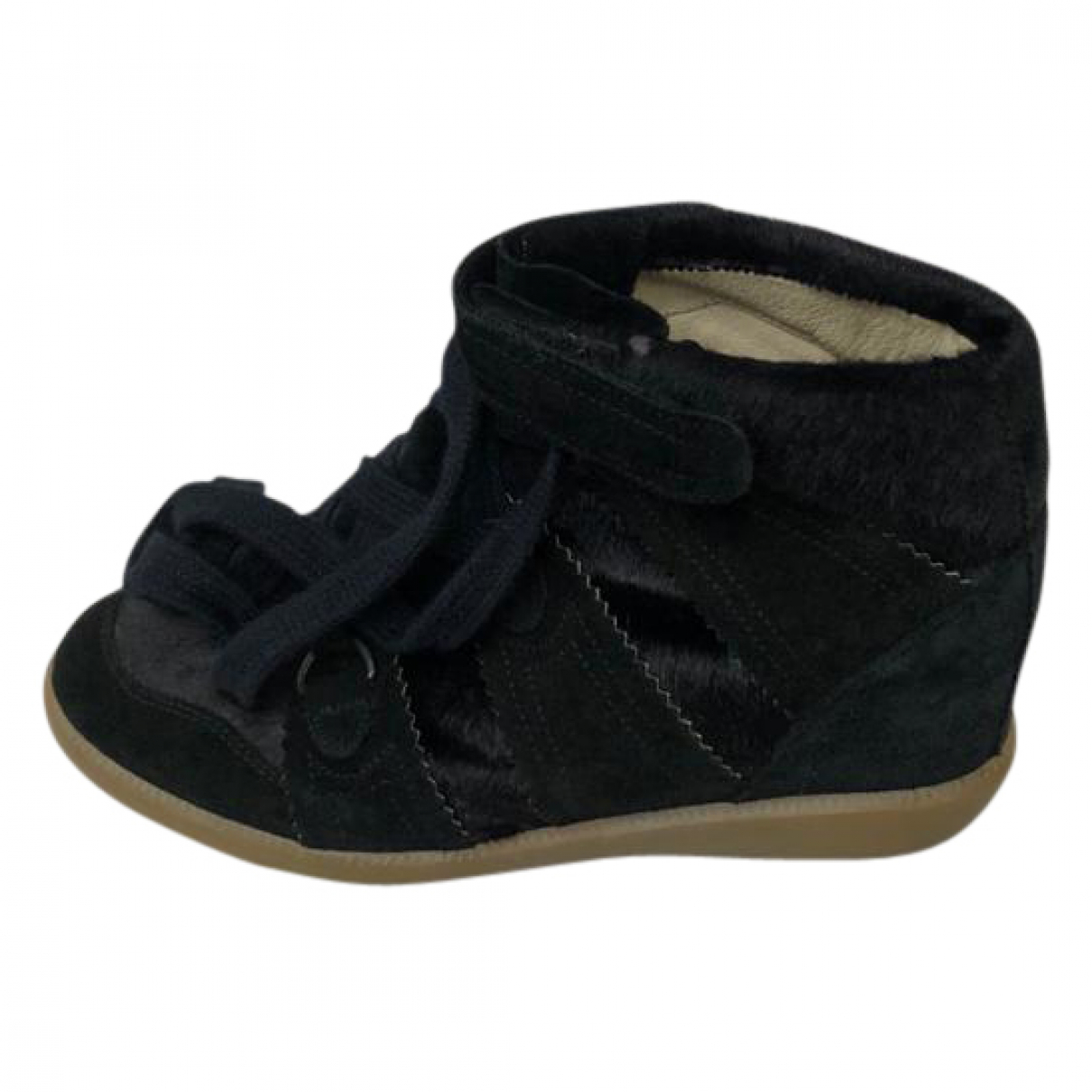 Isabel Marant Bobby Sneakers in  Schwarz Veloursleder