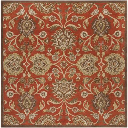 Caesar CAE-1062 4' Square Traditional Rug in