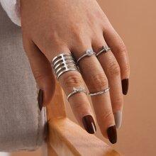 5 piezas anillo minimalista