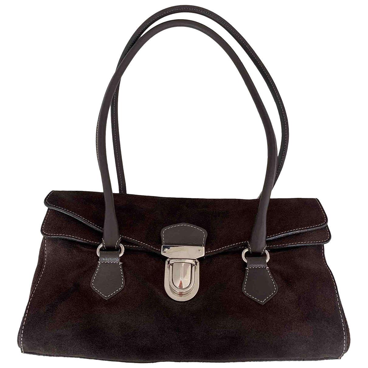 Non Signé / Unsigned \N Brown Suede handbag for Women \N