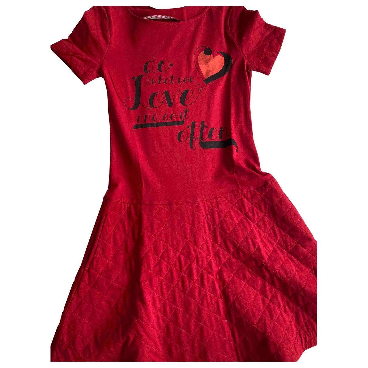 Moschino Love \N Red Cotton dress for Women 42 IT
