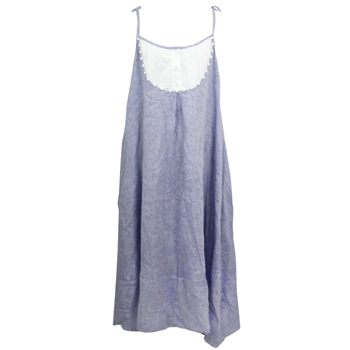 Wiggy Kit \N Kleid in  Blau Leinen