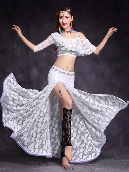 Milanoo Belly Dance Costume Lace High Slit Women Belly Dance Wear For Women