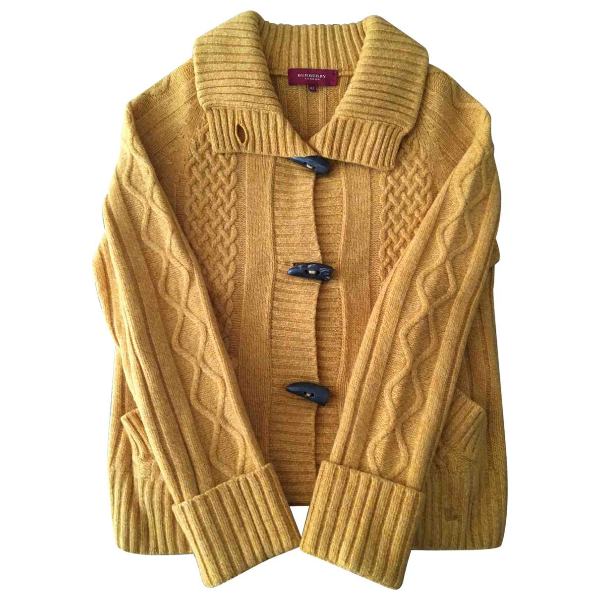 Burberry \N Jacke in  Gelb Wolle