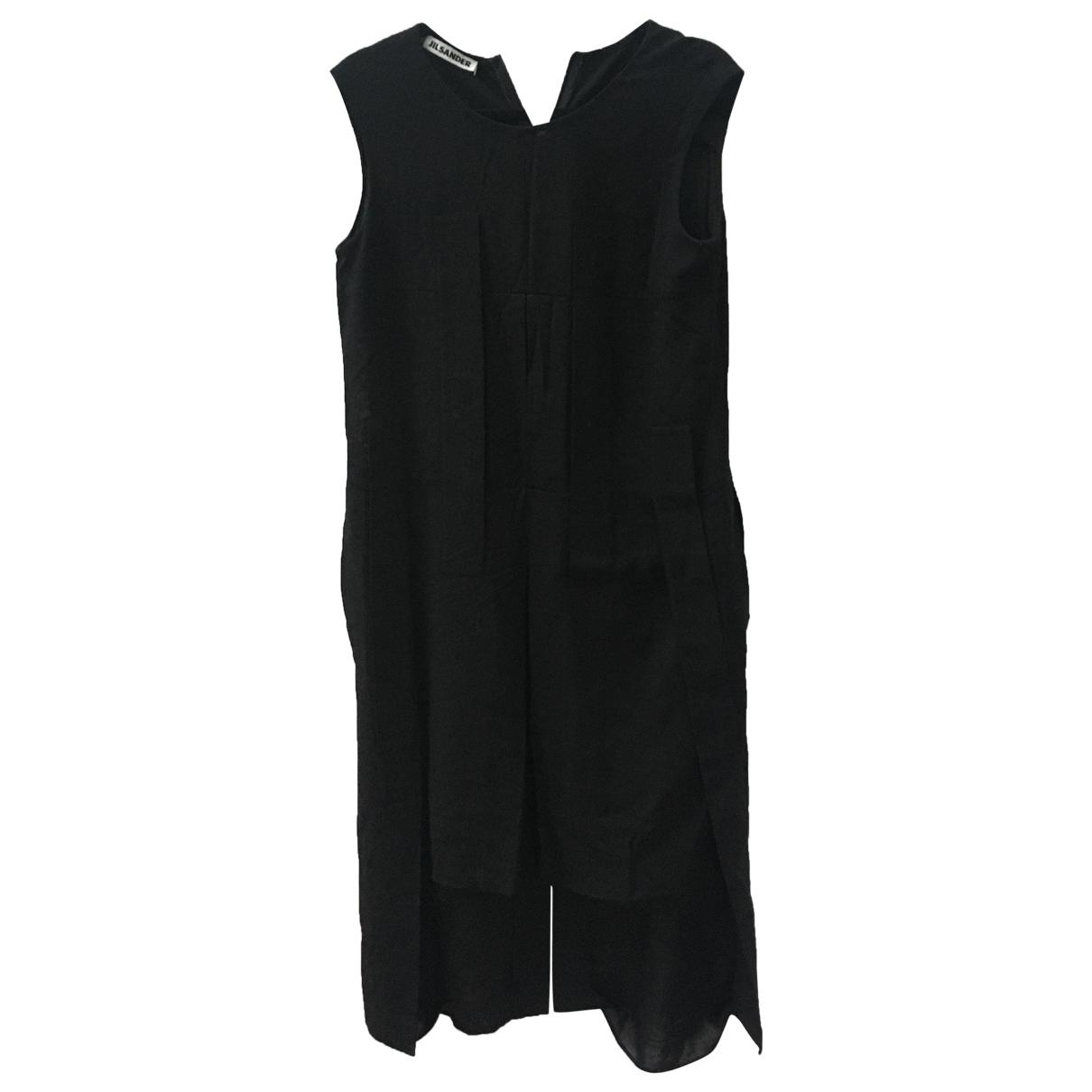 Jil Sander \N Kleid in  Schwarz Wolle