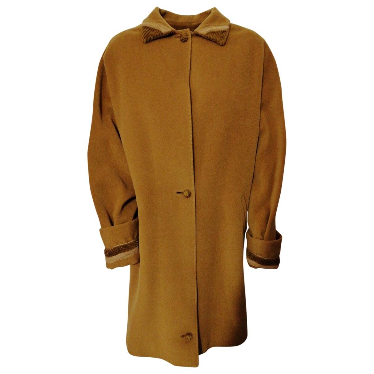 Gianni Versace \N Maentel in  Braun Wolle