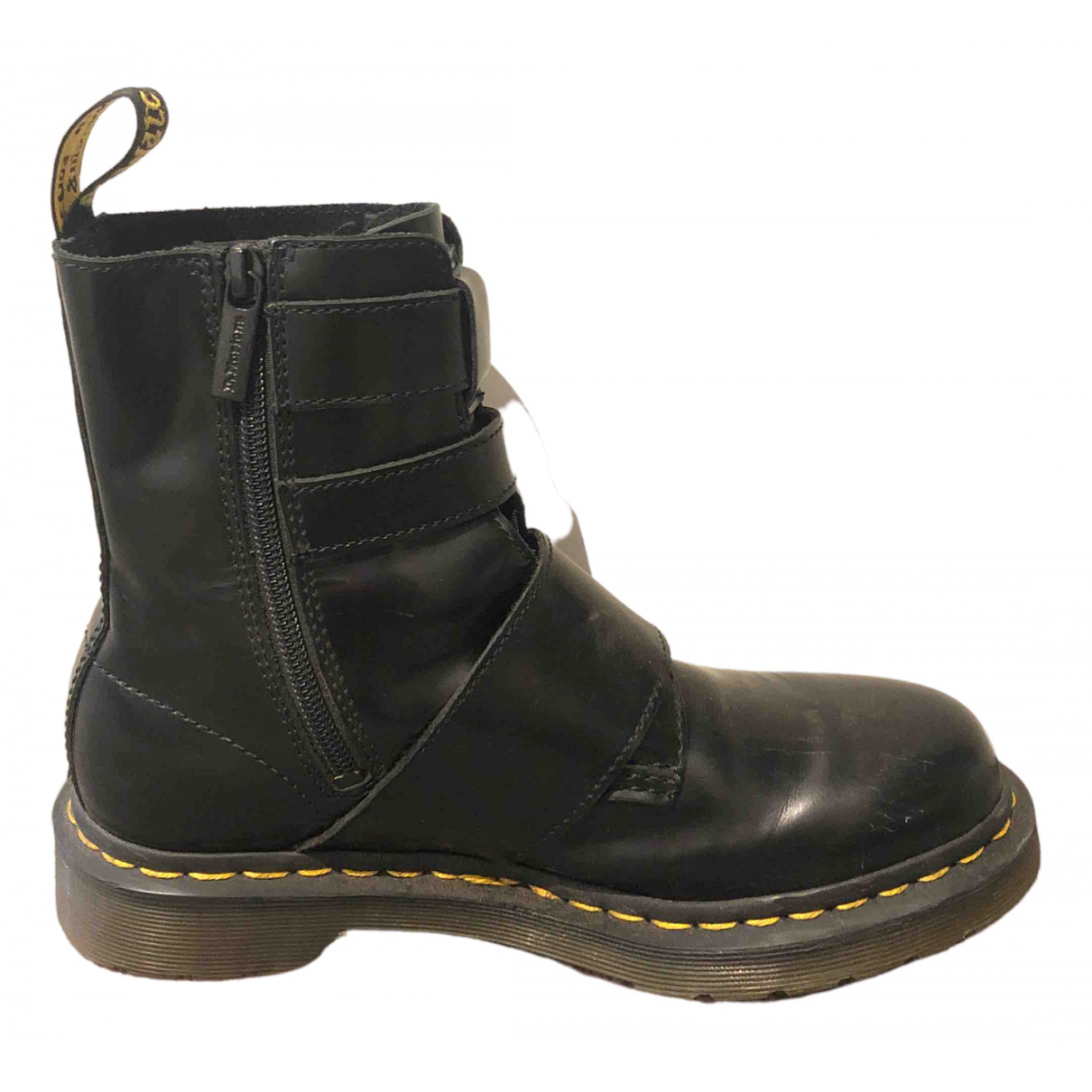 Dr. Martens \N Black Leather Boots for Women 37 EU