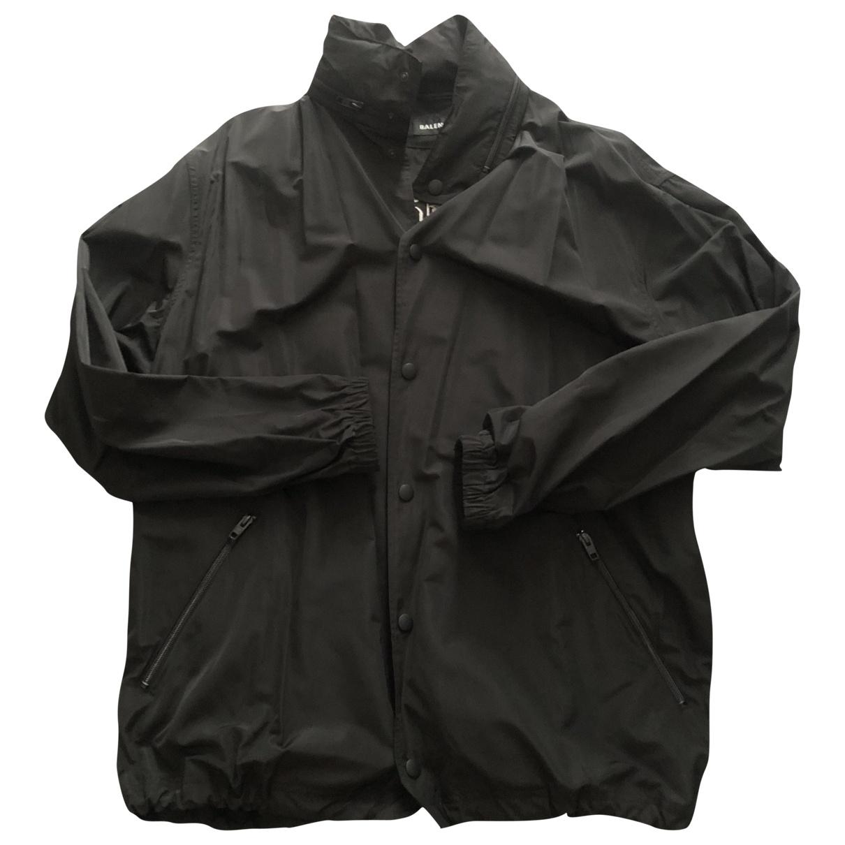 Balenciaga \N Jacke in  Schwarz Polyester