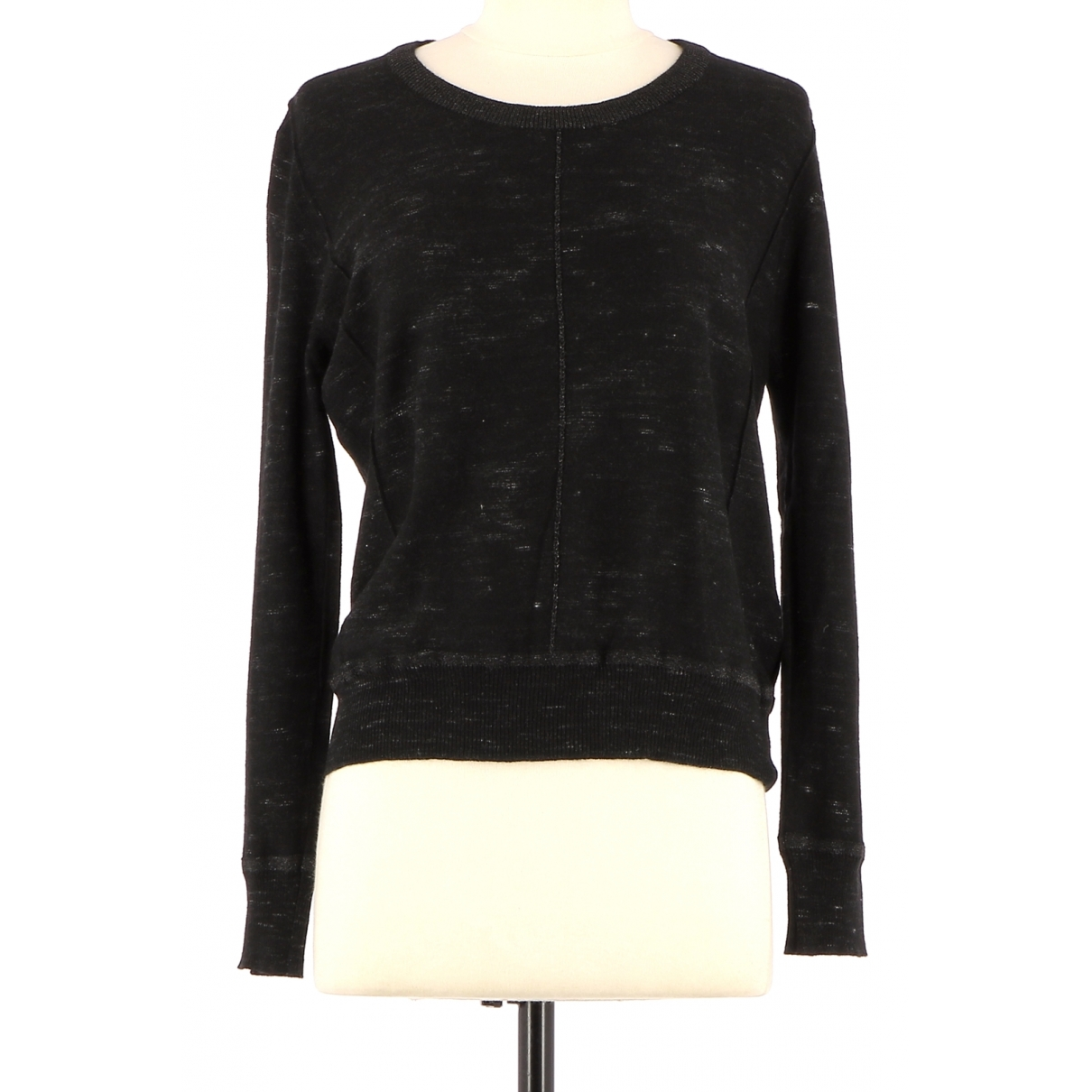 Non Signé / Unsigned \N Black Wool Knitwear for Women 36 FR