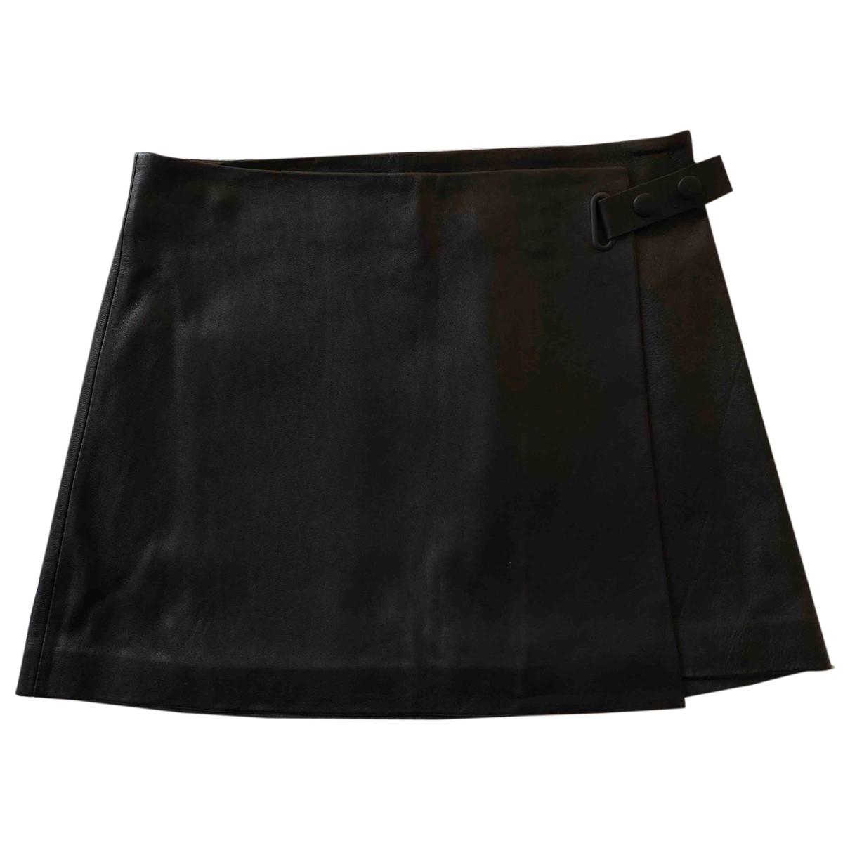 T By Alexander Wang - Jupe   pour femme en cuir - noir