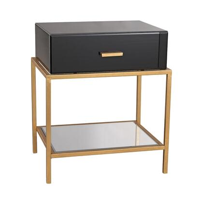 1114-166 Evans Side Table  In Black  Gold