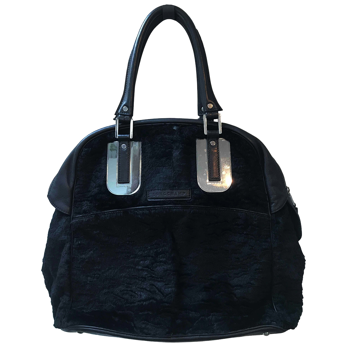 Longchamp Cosmos Black Leather handbag for Women \N